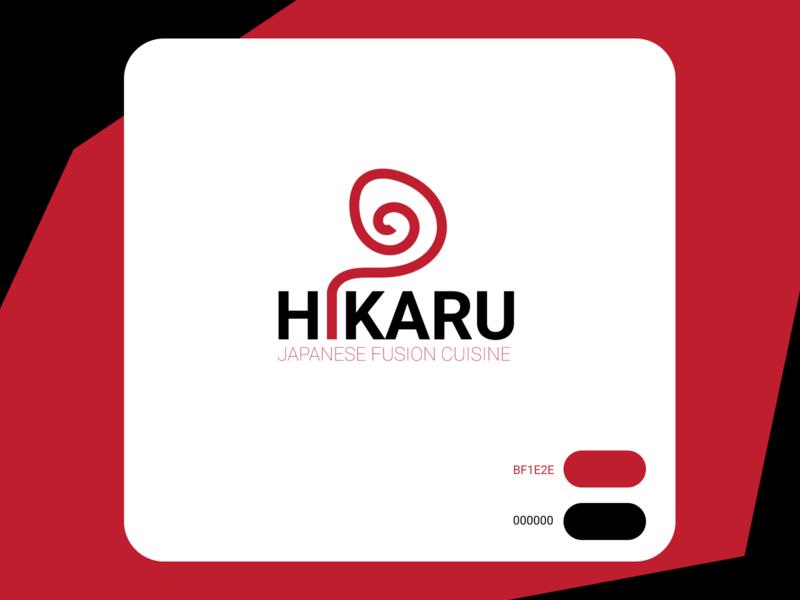 Logo : Hikaru design typography branding logo illustrator
