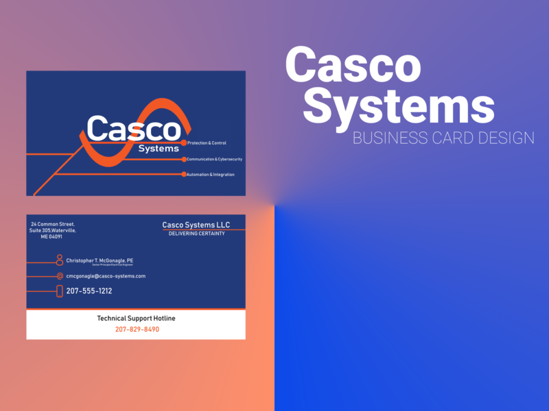 Business card design : Casco Systems branding illustrator