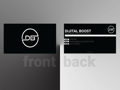 Business card design : Dijital Boost branding illustrator card design