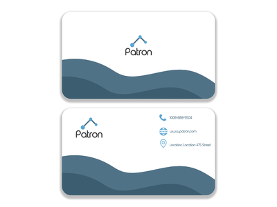 Bussiness Card : Patron icon vector design logo branding illustrator