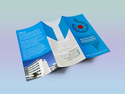 real estate tri fold brochure design by shamsul alam dribbble
