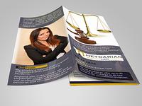 Heydarian Law Tri-fold Brochure Design