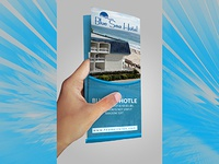 Blue Sea Hotel Tri-fold Brochure Design