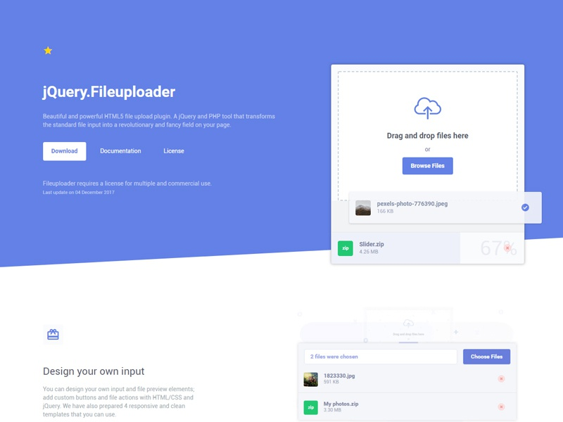 jQuery Fileuploader by Julian Galciuc on Dribbble