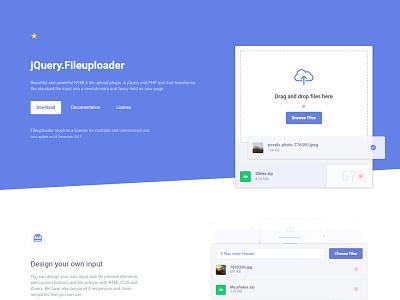 jQuery Fileuploader file jquery plugin uploader drop drag webdesign web upload ui landing