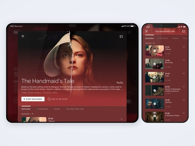 Redesigned Hulu Mobile Details Page