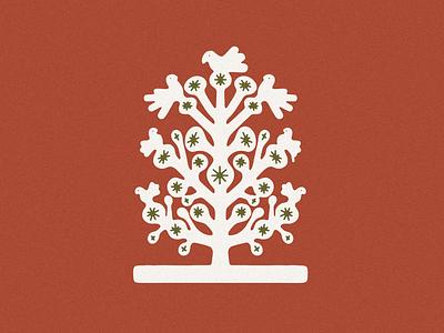Tree of Life Design simple minimal colors color red birds bird california desert mexican mexico logos tree jamescoffman branding lockup font logo illustration design