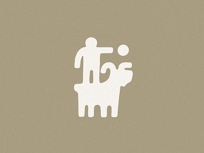Moving Forward Design desert movement motion pallete color man goat simple modern contemporary minimalist minimal logos jamescoffman branding lockup font logo illustration design