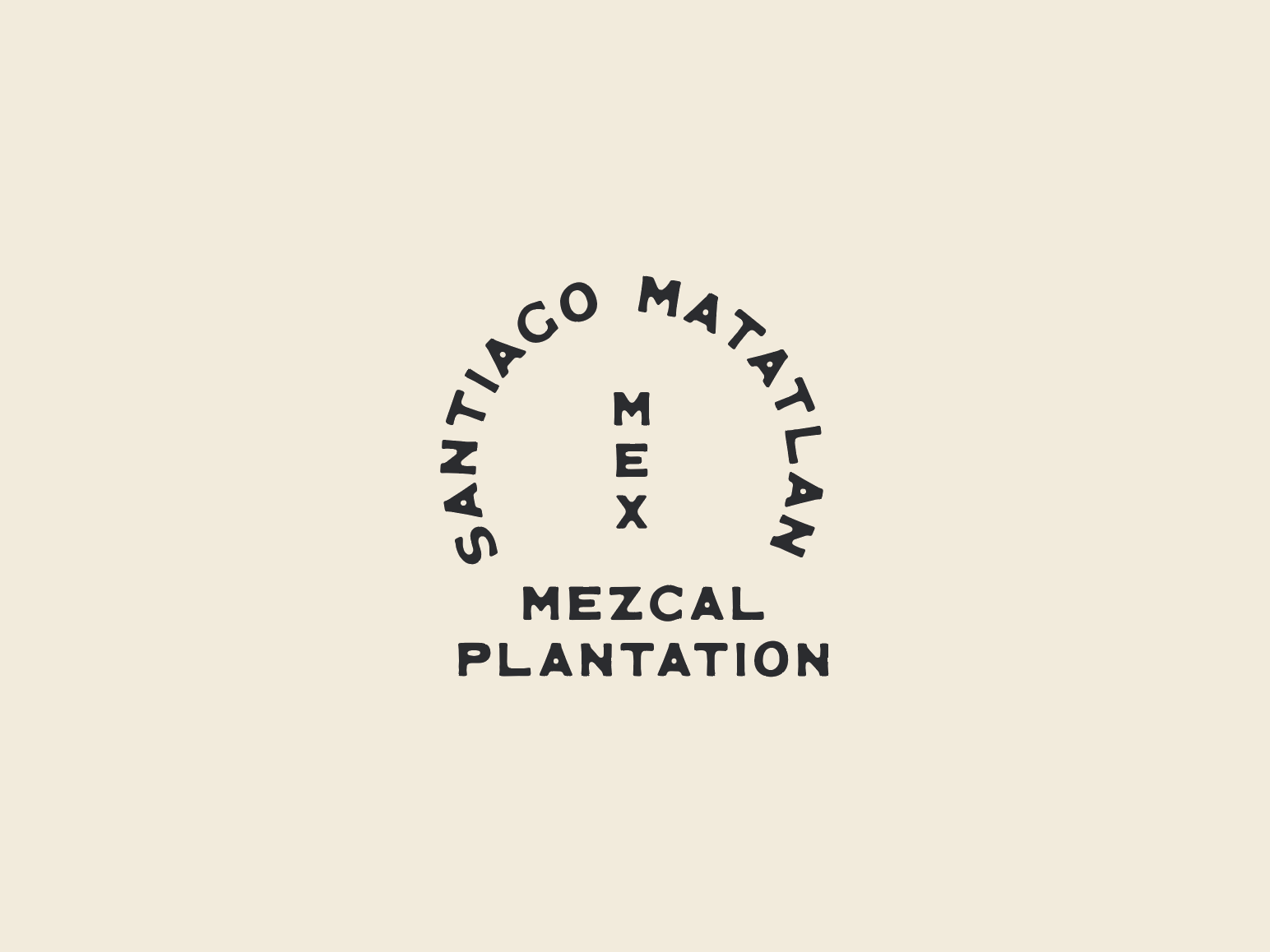 Mezcal Plantation Lockup mexican mexico old west west southwestern southwest minimal typography branding logo design illustration type design jamescoffman landboys land lockup typeface font type