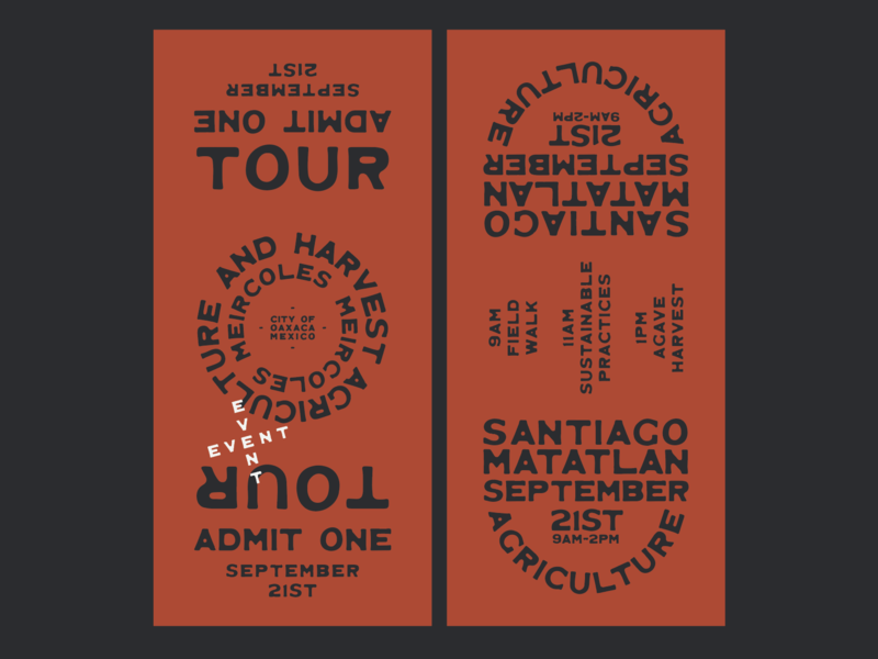 Tickets for Streams In The Desert Mezcal Festival west typography typeface type design type southwestern southwest old west minimal mexico mexican logo lockup landboys land jamescoffman illustration font design branding