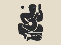 Musician & Moon Illustration