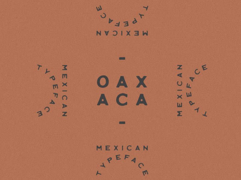 Oaxaca Typeface typeface design type design fonts typefaces southwestern handmade typedesign typeface type southwest minimal mexican mexico jamescoffman logo lockup illustration font design branding