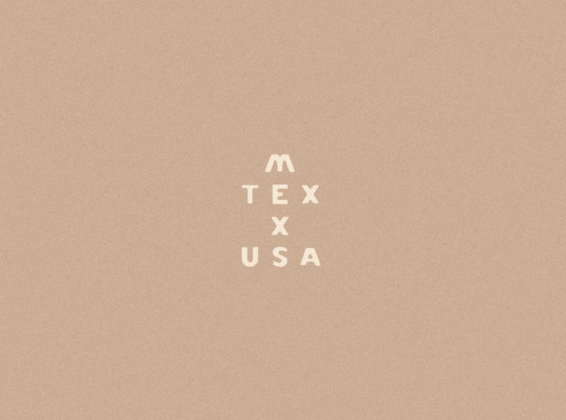 Mexico, Texas, USA Wordmark wordmark letterpress typeography type design typeface type hand draw handlettering lettering letter minimal mexican mexico jamescoffman logo lockup illustration font design branding