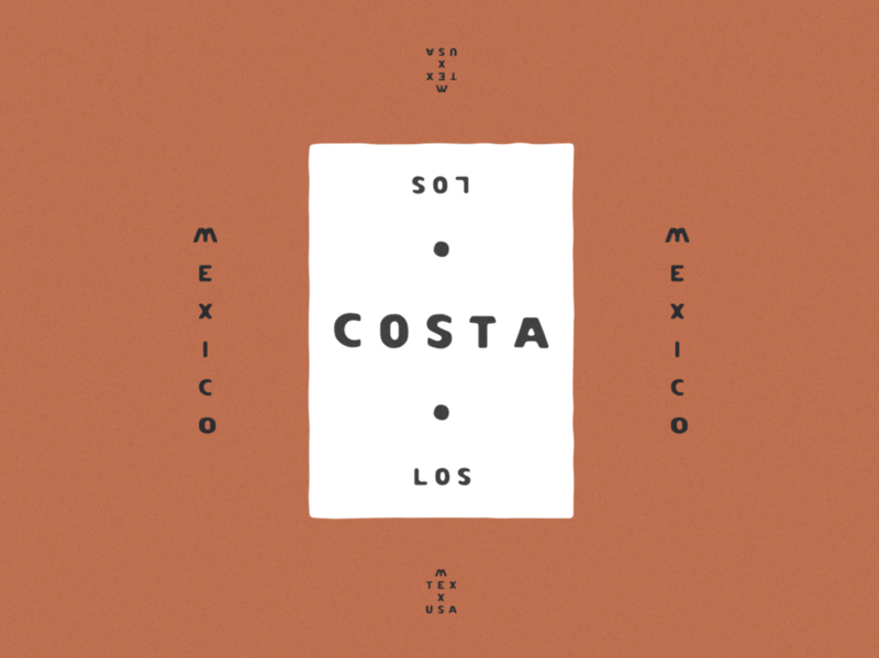 Los Costa Typeface Design letterpress hand lettering typeface. lettering typography font design typeface design typedesign fonts typeface type minimal mexican mexico jamescoffman logo lockup illustration font design branding