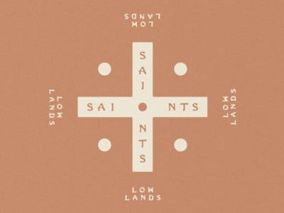 Saints of the lowlands logo vintage logo design logos wordmark logo land design type design letterpress illustrated illustration lettering hand lettered hand drawn mexican mexico fonts font typeface type