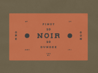Wine Label for Dundee Vineyards
