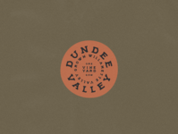 Dundee Valley Vineyards sticker / wax stamp