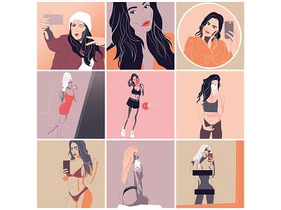 Identity fashion art vector fashion digital illustrators working creative process illustrator artwork colour palette illustration