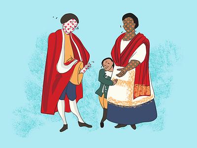 Smallpox digital illustrator colour palette illustration