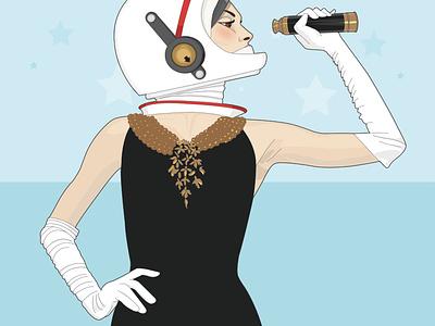Looking for stars colour palette fashion fashion art austronaut artwork illustration