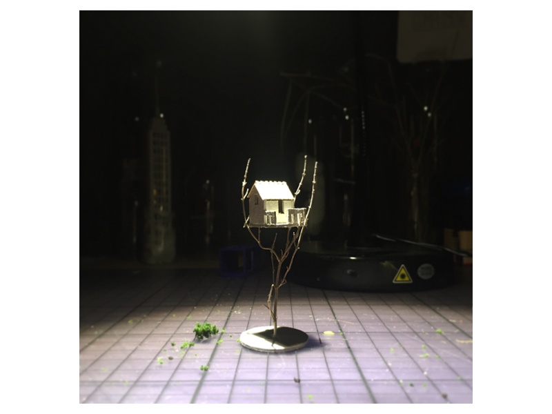 Treehouse handmade miniature tree treehouse micro matter