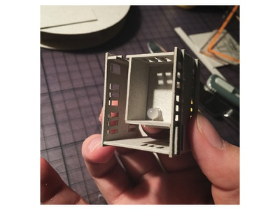 So this is a light diorama miniature handmade work in progress making of mini led micro matter