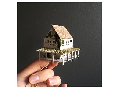 Work in progress mini leds lights house micro matter