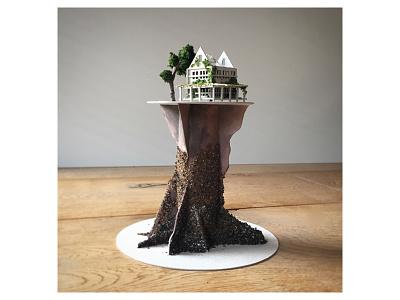 Work in progress led light diorama miniature handmade nightlight micro matter
