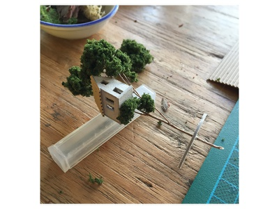 Working on a small series of 5 miniature housetree exhibition sbk micro matter