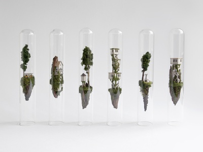 The Enormous Tiny Art Show / Portsmouth USA art show tiny exhibition micro handmade island glass tube micro matter testtube miniature