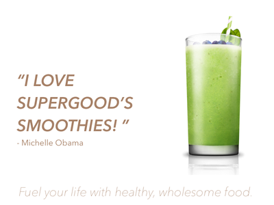 Supergood Landing Page for DesignLab Class healthy smoothies sketch website landing page