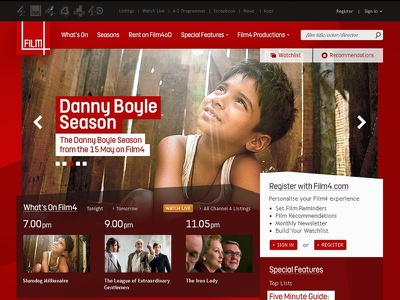 Film4 Redesign film web design