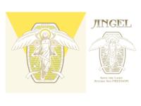 Angel Badge badge logo badge logo design illustrator icon illustration color