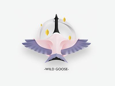 WildGoose goose badge logo badge branding vector design illustrator logo icon illustration color
