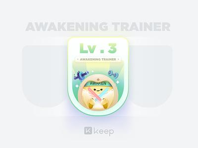 Level Card fitness icon keep trainer awaken card egg sketch design ui illustrator illustration color