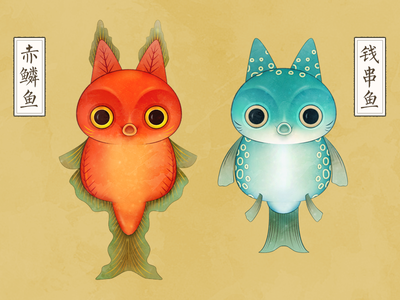 Fish&Cat fish cat character color illustrator