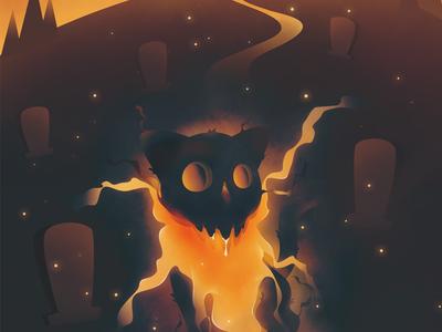 Ghost Cat ghost cat color illustractor