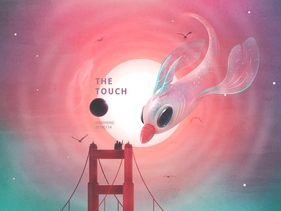 The Touch ps planet fish sun color illustrate