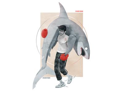 Shark Man shark design illustration