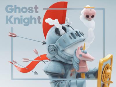 Ghost knight design ghost knight c4dart c4d