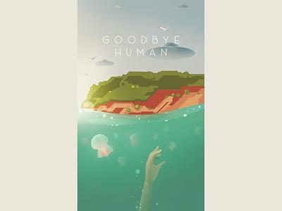 Goodbye Human sky design illustrator illustration color