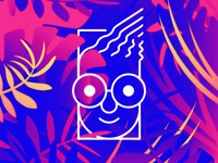 Jungle Some Kid flat branding design vector logo