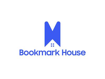 Bookmark House Logo epjm surabaya indonesia student work house bookmark blue brand identity brand branding shape design logo design logo