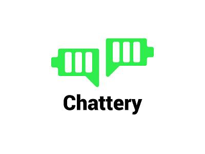Chattery Logo epjm surabaya indonesia inspiration student work green battery chat design shape brand identity branding brand logo design logo