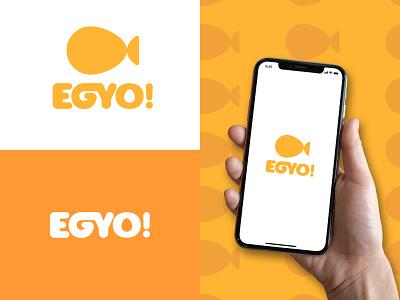 EGYO Logo epjm surabaya indonesia student work inspiration brand shape orange yellow recorder video egg brand identity design logo design branding logo
