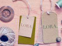 Lora clothes label deign
