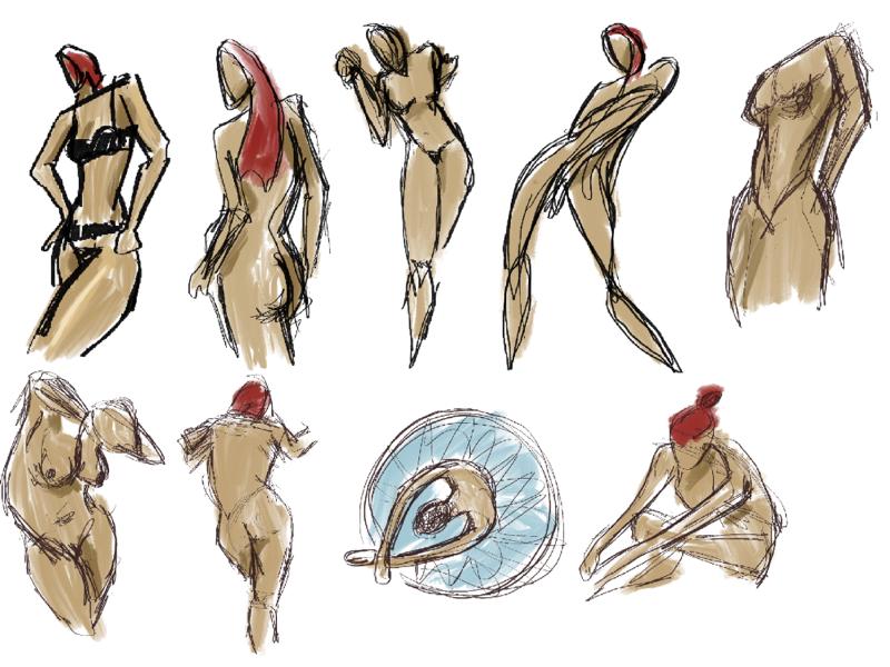 Gesture Ilustration digital illustration figurine illustration procreate