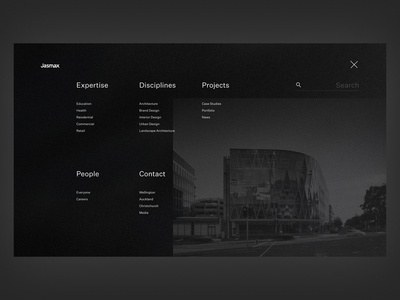 Open Menu - Auckland Based Architecture website