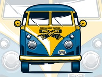 Two Roads Brewing VW Bus