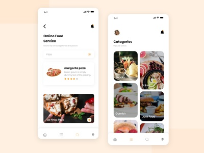 Food Delivery ui food app clear consept clean ui minimal app design food delivery app food delivery